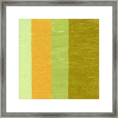 Olive And Peach Framed Print