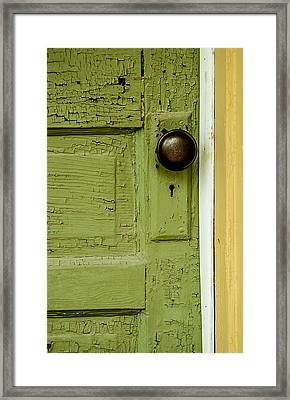 Olive Door Framed Print