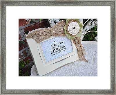 Olive In The Moment Framed Print by Amanda  Sanford