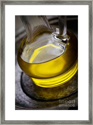 Olive Oil And Basil Framed Print
