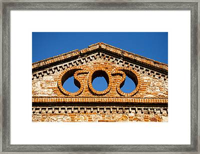Olive Oil Factory Architecture Detail Framed Print