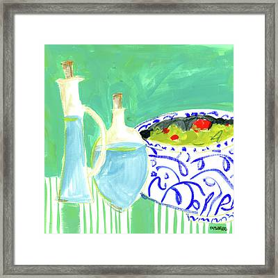Olive Oil I Framed Print by Pamela J. Wingard