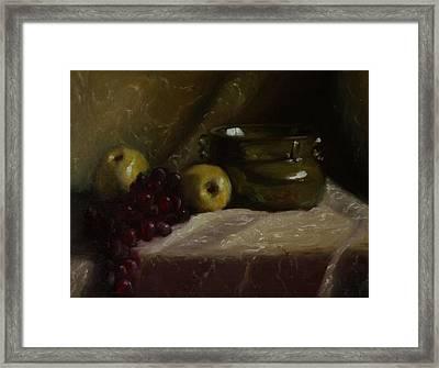 Olive Pottery Framed Print