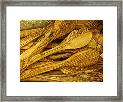 Olive Wood Framed Print