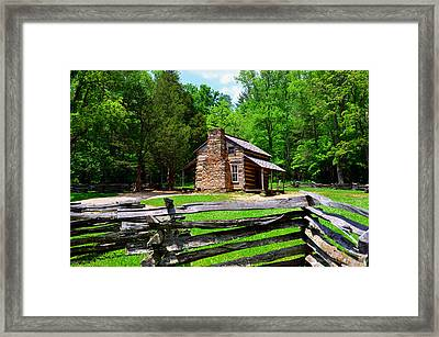Oliver Cabin 1820s Framed Print by David Lee Thompson