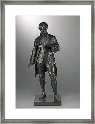 Oliver Goldsmith Chiselled On Side Of Base Framed Print by Litz Collection