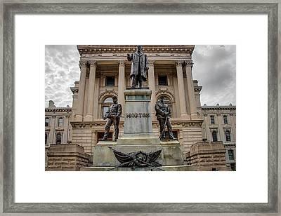 Oliver P. Morton Monument Framed Print