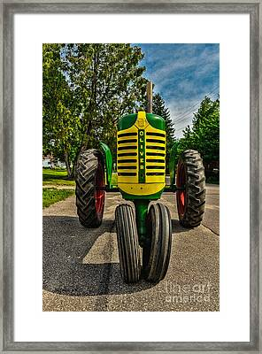 Framed Print featuring the photograph Oliver Row Crop Ogdensburg Puller by Trey Foerster