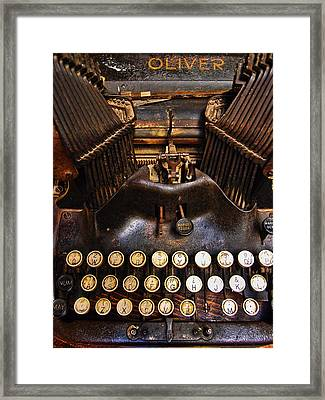 Oliver Framed Print by Skip Hunt
