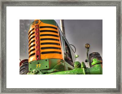 Oliver Tractor Framed Print by Michael Eingle