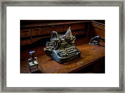 Oliver Typewriter Framed Print