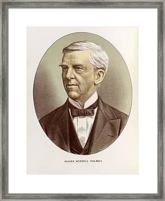 Oliver Wendell Holmes Framed Print by British Library