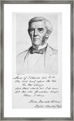 Oliver Wendell Holmes Framed Print by Granger