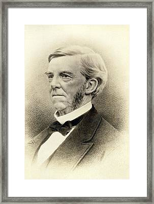 Oliver Wendell Holmes Framed Print by Underwood Archives