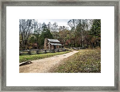 Framed Print featuring the photograph Oliver's Log Cabin by Debbie Green