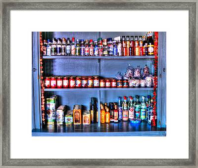 Olives And Ouzo Framed Print by Andreas Thust