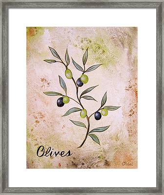Olives Painting Framed Print