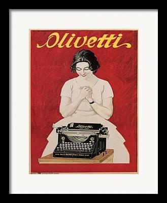 Olivetti Digital Art Framed Prints