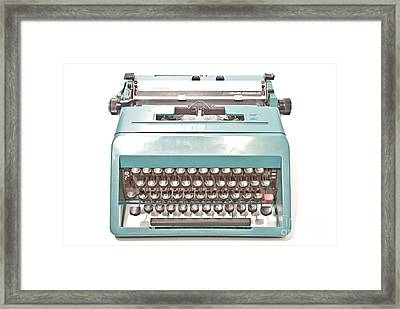 Olivetti Typewriter 1 Framed Print by Pittsburgh Photo Company