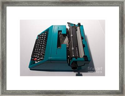 Olivetti Typewriter 10 Framed Print by Pittsburgh Photo Company