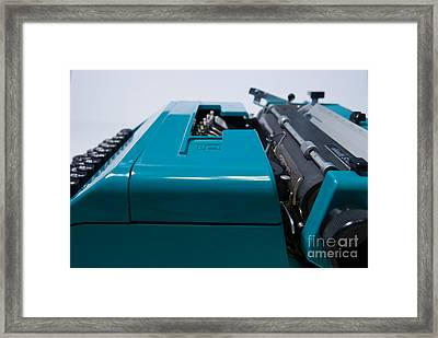 Olivetti Typewriter 12 Framed Print by Pittsburgh Photo Company