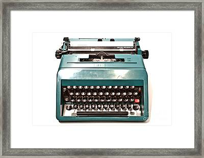 Olivetti Typewriter 13 Framed Print by Pittsburgh Photo Company