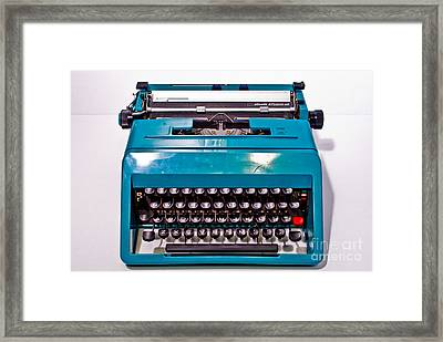 Olivetti Typewriter 2 Framed Print by Pittsburgh Photo Company
