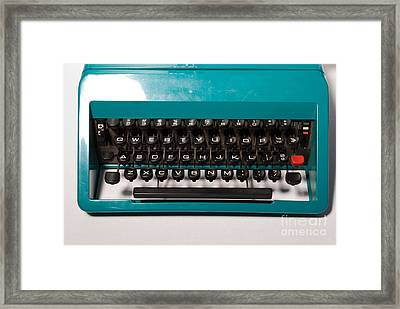 Olivetti Typewriter 4 Framed Print by Pittsburgh Photo Company