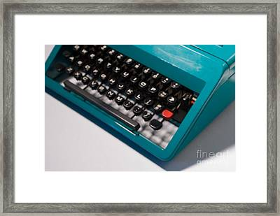 Olivetti Typewriter Soft Focus Framed Print by Pittsburgh Photo Company