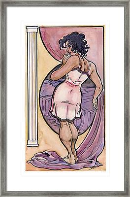 Framed Print featuring the drawing Olivia by John Ashton Golden