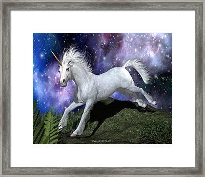 Olivia's Unicorn Framed Print by Stephen McKim