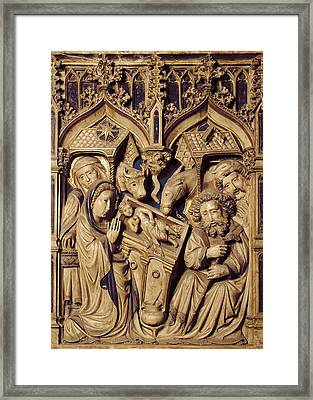 Oller, Pere 15th Century. Altarpiece Framed Print by Everett