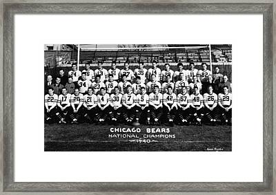 Chicago Bears 1940 Framed Print by Retro Images Archive
