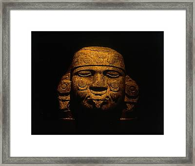 Olmeca Head Framed Print