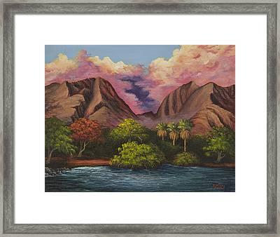 Olowalu Valley Framed Print