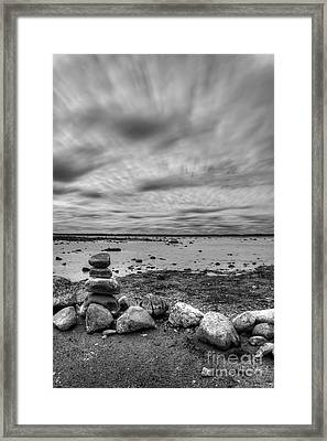 Ols Mission Peninsula Shoreline Framed Print