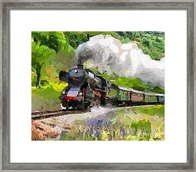 Oltimer Train On Transalpine Railway Framed Print by Dragica  Micki Fortuna