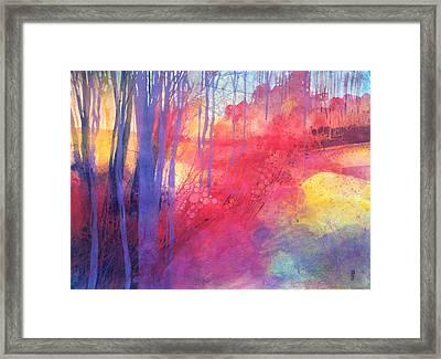 Oltre Il Sentiero Dei Faggi D'autunno Framed Print by Alessandro Andreuccetti