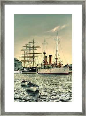 Olympia And Moshulu Framed Print by Olivier Le Queinec