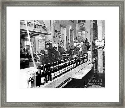 Olympia Brewing Company Bottling Line 1914 Framed Print