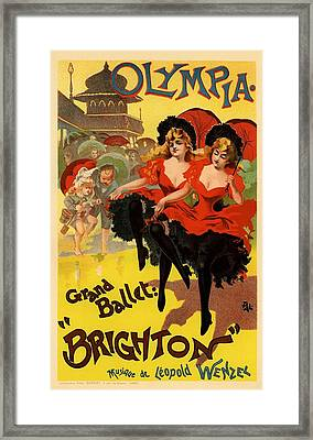 Olympia Grand Ballet Brighton Framed Print by Gianfranco Weiss