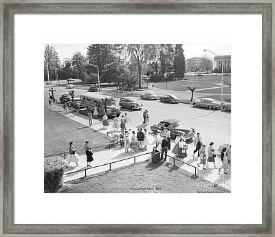 Olympia High School 1958 Framed Print by Merle Junk