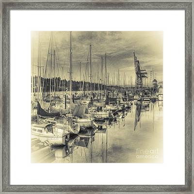 Framed Print featuring the photograph Olympia Marina 3 by Jean OKeeffe Macro Abundance Art
