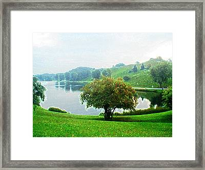 Olympiapark In Munich Framed Print by Zinvolle Art