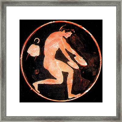 Olympic Games, Long Jump, Red-figure Framed Print