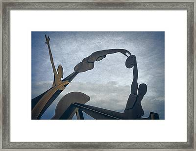 Olympic Sculpture Framed Print by Joan Carroll