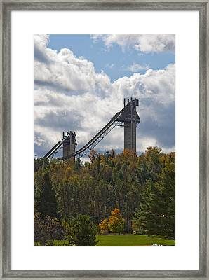 Olympic Ski Jumps Lake Placid Framed Print