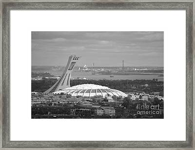 Olympic Stadium Montreal Framed Print by Reb Frost