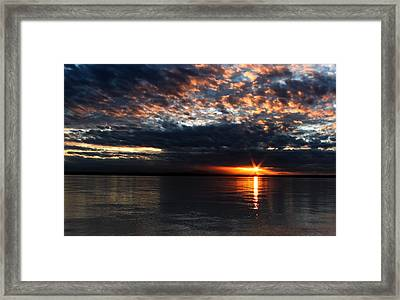 Framed Print featuring the photograph Olympic Sunstar by David Stine