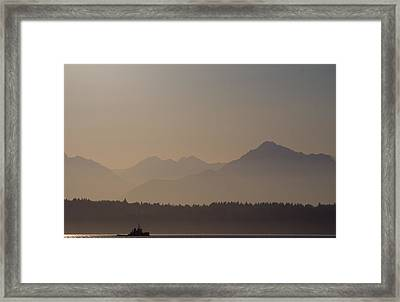 Framed Print featuring the photograph Olympic Tug by Erin Kohlenberg